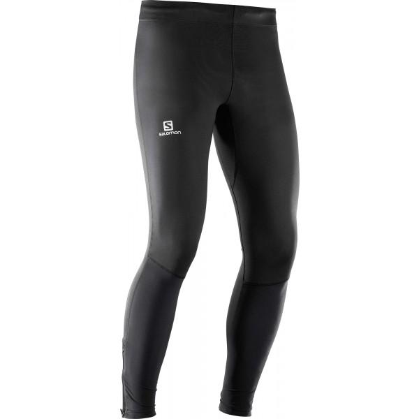 Salomon AGILE LONG TIGHT M - Pánske bežecké nohavice