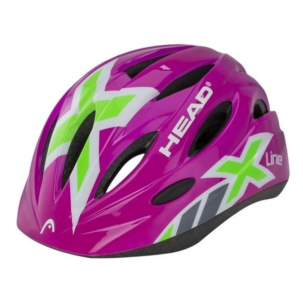 Head SISAK KID Y01 rózsaszín (48 - 52) - Gyerek kerékpáros sisak