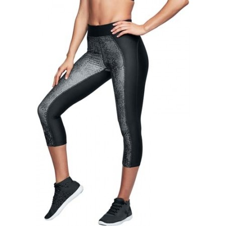 Legginsy kompresyjne 3/4 damskie - Under Armour HG PRINT ARMOUR CAPRI - 4