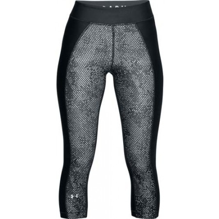 Legginsy kompresyjne 3/4 damskie - Under Armour HG PRINT ARMOUR CAPRI - 1