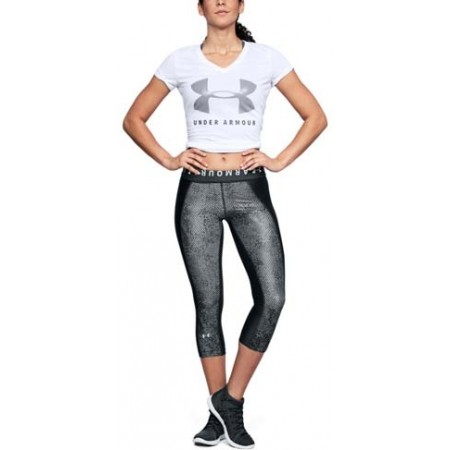 Legginsy kompresyjne 3/4 damskie - Under Armour HG PRINT ARMOUR CAPRI - 3