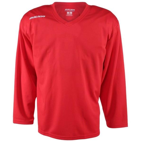 Bauer 200 JERSEY YTH czerwony XL - Hokejowa koszulka treningowa dziecięca