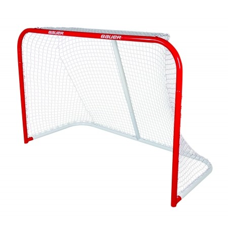 Bauer DELUXE OFFICIAL PRO STEEL GOAL - Steel ice hockey gate with a net