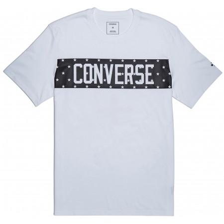 Koszulka męska - Converse STAR BLOCK TEE - 1