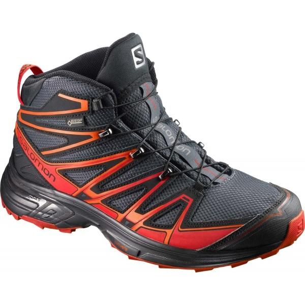Salomon X-CHASE MID GTX červená 10 - Pánská treková obuv