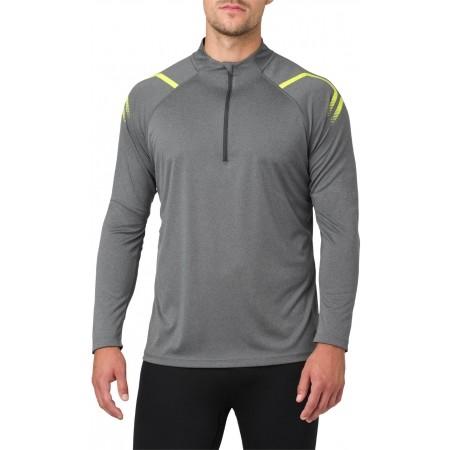 Tricou sport bărbați - Asics ICON LS 1/2 ZIP M - 3