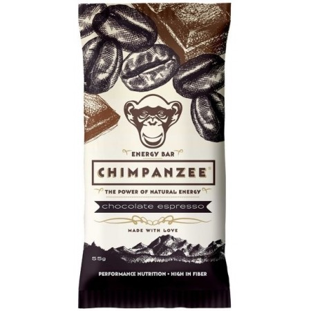 Baton energizant - Chimpanzee ENERGY BAR CHOCOLATE ESPRESSO 55 G