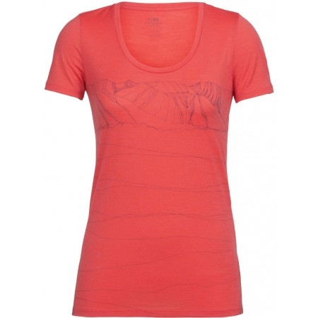 Tricou de damă - Icebreaker TECH LITE SS SCOOP PATHS