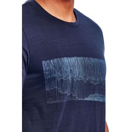 Tricou de bărbați - Icebreaker TECH LITE SS CREWE HARD RAIN - 5