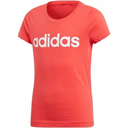 adidas YG LINEAR TEE - Dívčí triko