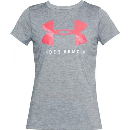 Koszulka funkcjonalna damska - Under Armour TECH GRAPHIC TWIST SSC - 1
