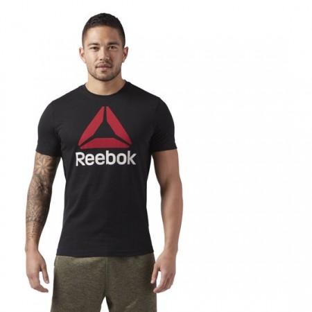 Tricou sport bărbați - Reebok QQR-REEBOK STACKED - 3