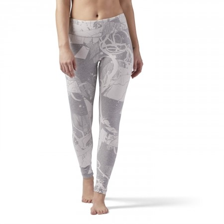 Women's tights - Reebok ELEMENTS LEGGING ABSTRACT BLOSSOM - 1