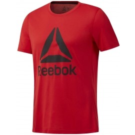Reebok WORKOUT READY SUPREMIUM 2.0 TEE BIG LOGO - Herren Sport Trikot