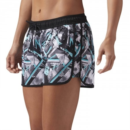 Women's shorts - Reebok WOR PRINTED WOVEN SHORT - 5
