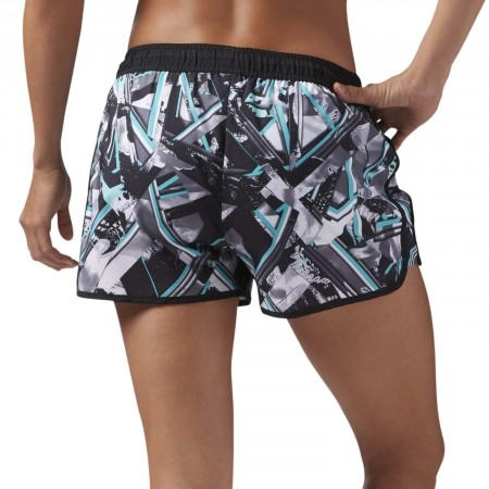 Women's shorts - Reebok WOR PRINTED WOVEN SHORT - 4