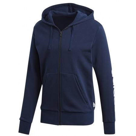 Men's sweatshirt - adidas ESSENTIALS LINEAR FULL-ZIP HOOD FRENCH TERRY - 1
