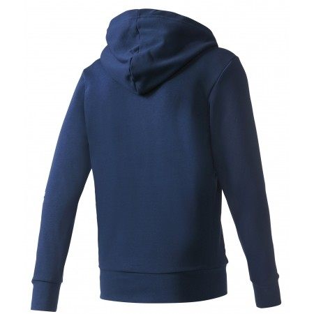 Men's sweatshirt - adidas ESSENTIALS LINEAR FULL-ZIP HOOD FRENCH TERRY - 2