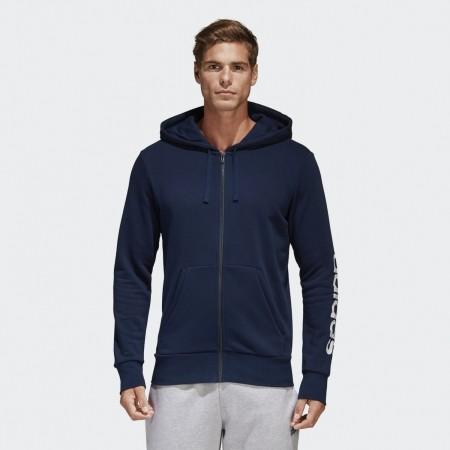 Men's sweatshirt - adidas ESSENTIALS LINEAR FULL-ZIP HOOD FRENCH TERRY - 3