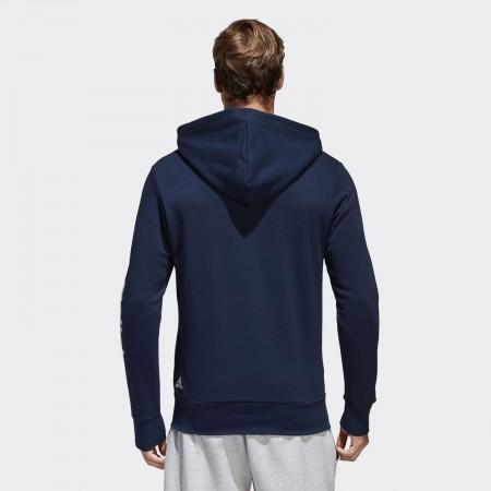 Men's sweatshirt - adidas ESSENTIALS LINEAR FULL-ZIP HOOD FRENCH TERRY - 4