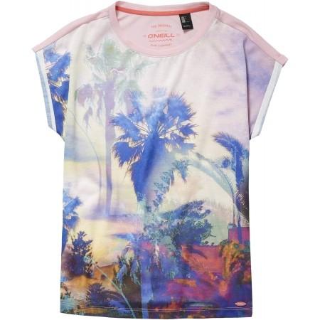 Dievčenské tričko - O'Neill LG FOTOPRINT S/SLV T-SHIRT - 1