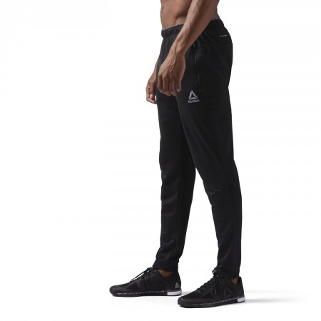 Men's sports trousers - Reebok WORKOUT READY STACKED LOGO TRACKSTER PANT - 5