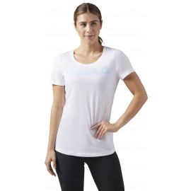 Reebok LINEAR READ SCOOP NECK - Women's sports T-shirt