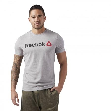 Tricou sport bărbați - Reebok QQR-REEBOK LINEAR READ - 3