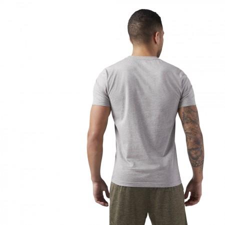 Tricou sport bărbați - Reebok QQR-REEBOK LINEAR READ - 4
