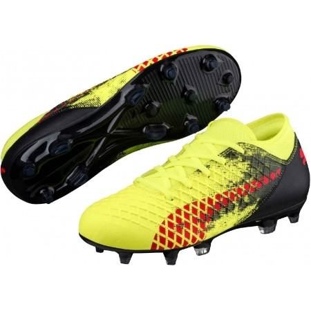 Ghete fotbal juniori - Puma FUTURE 18.4 FG/AG JR - 1