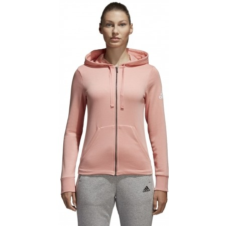 Women's sweatshirt - adidas ESSENTIALS SOLID FULLZIP HOODIE - 2