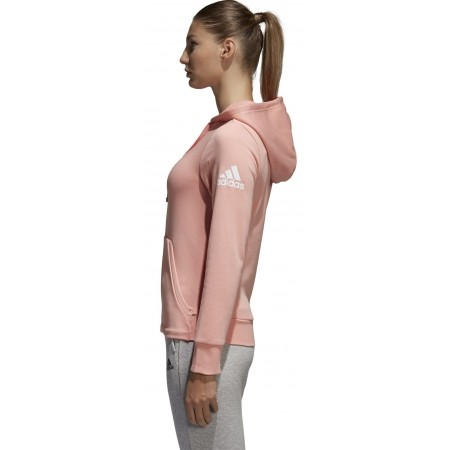 Women's sweatshirt - adidas ESSENTIALS SOLID FULLZIP HOODIE - 4