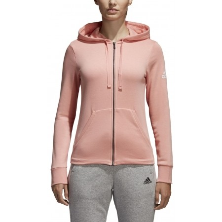 Women's sweatshirt - adidas ESSENTIALS SOLID FULLZIP HOODIE - 5