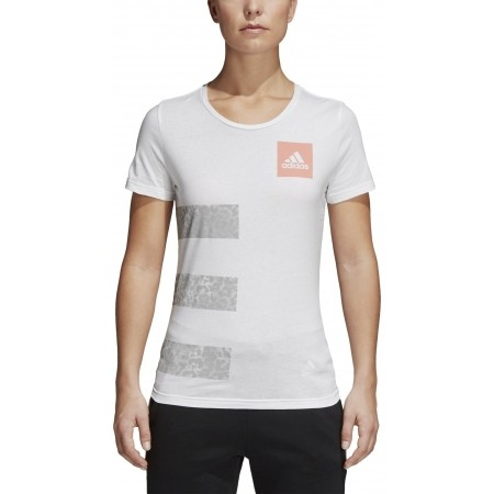 Women's T-shirt - adidas THREE STRIPES W - 4