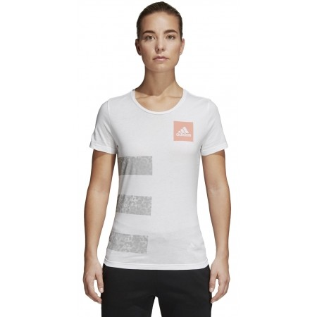 Women's T-shirt - adidas THREE STRIPES W - 2