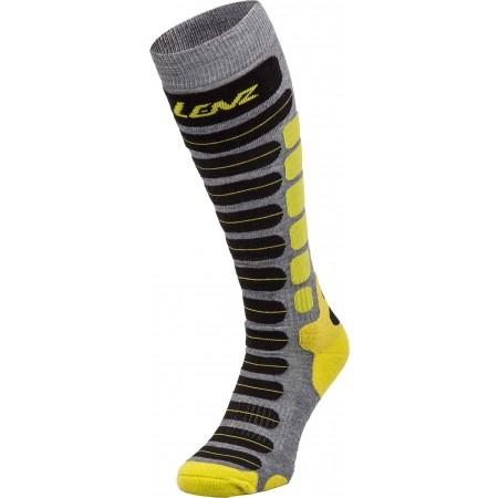 Дамски скиорски три четвърти чорапи - Lenz SKIING 2.0 W - 1