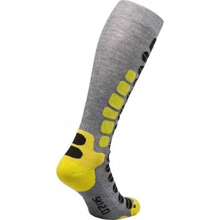 Дамски скиорски три четвърти чорапи - Lenz SKIING 2.0 W - 2