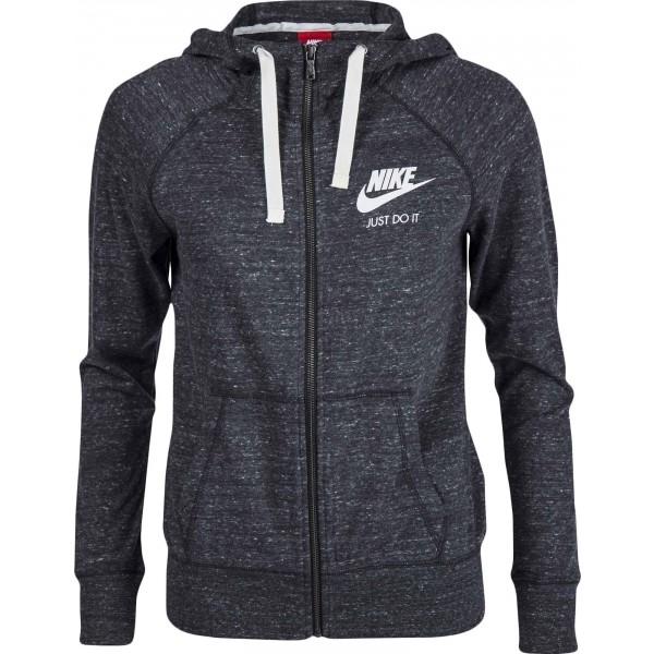Nike GYM VINTAGE FZ HOODIE szary XL - Bluza z kapturem damska