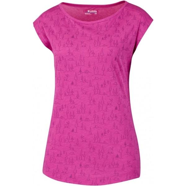 Columbia LITTLE ROCK SHORT SLEEVE TEE růžová XS - Dámské triko