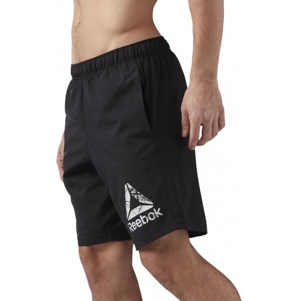 Reebok COMMERCIAL CHANNEL WOVEN SHORT čierna L - Pánske šortky
