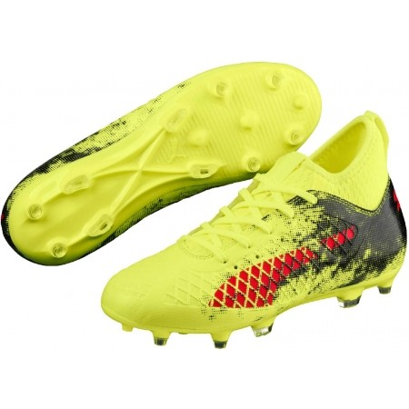 Ghete fotbal juniori - Puma FUTURE 18.3 FG AG Jr