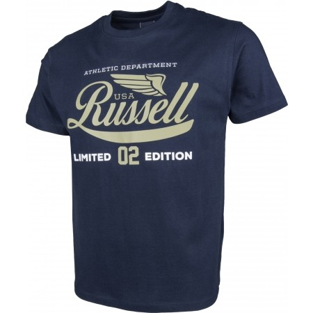 Men's T-shirt - Russell Athletic S/S NECK CREW RA PRINT - 2