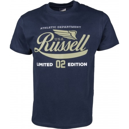 Men's T-shirt - Russell Athletic S/S NECK CREW RA PRINT - 1