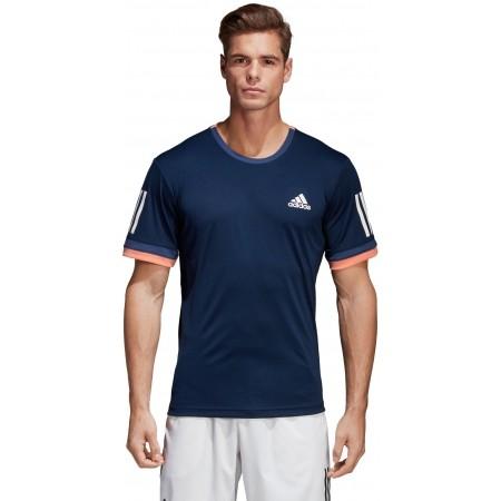 Koszulka tenisowa męska - adidas CLUB 3 STRIPES TEE - 2