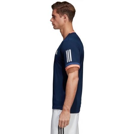 Koszulka tenisowa męska - adidas CLUB 3 STRIPES TEE - 3