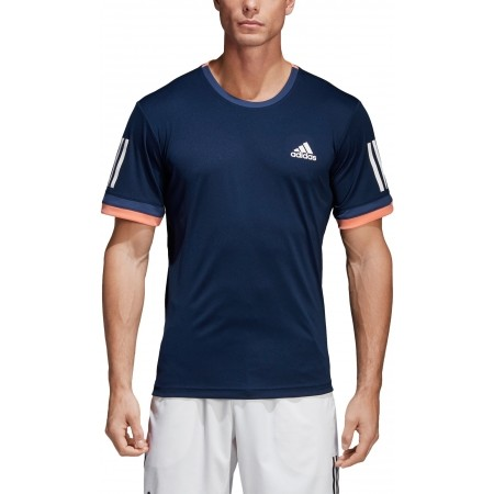 Koszulka tenisowa męska - adidas CLUB 3 STRIPES TEE - 5