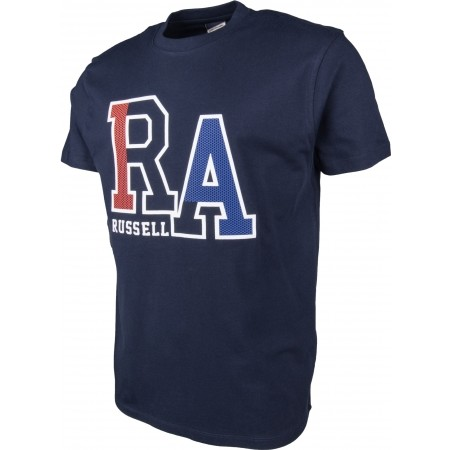 Men's T-shirt - Russell Athletic S/S CREW TEE WITH LARGE RA MESH EFFECT RAISED PRINT - 2