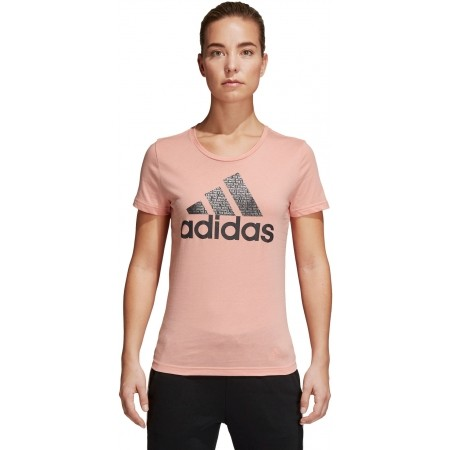 Women's T-shirt - adidas FOIL TEXT BOS - 2