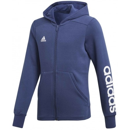 Girls' sports sweatshirt - adidas ESSENTIALS MID 3-STRIPES FULL ZIP HOODIE
