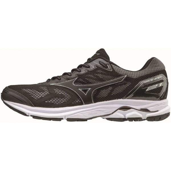 Mizuno WAVE RIDER 21 černá 9 - Pánská běžecká obuv